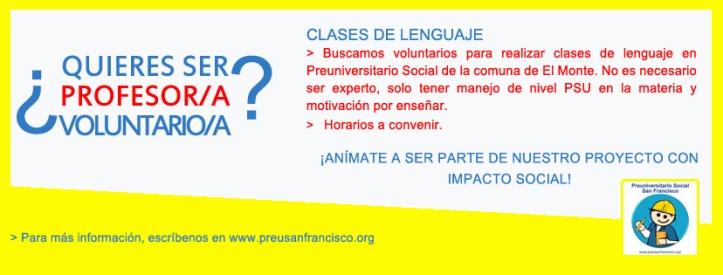 Flyer profesores para Lenguaje 2